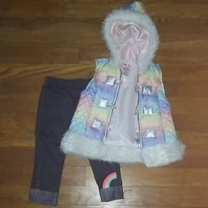 Little Lass Matching Sets - Toddler girls size 18 months pants outfit